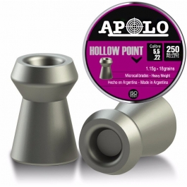 BALIN APOLO HOLLOW POINT 5,5 MM 1,15 GRS 250 U.