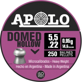 BALIN APOLO DOMED HOLLOW 5.5 MM O.93 GR. (250 UDS)