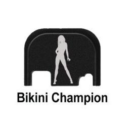 "PLACA CODERRERA GLOCKSTORE ""BIKINI CHAMPION"""