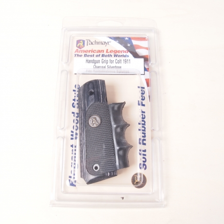 CACHA PISTOLA PACHMAYR COLT 1911 CHARCOAL SILVERTONE