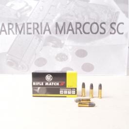 MUNICION RWS C/22 LR. RIFLE MACHT S 40 GR. (20 UDS)