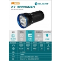 LINTERNA OLIGHT X7 MARAUDER 9.000 LUM KIT (RECARGABLE)