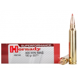 MUNICION HORNADY C/300 WIN.MAG. SST 180 GR. (SUPERFORMANCE)