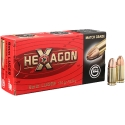 MUNICION GECO C/9X19 HEXAGON 124 GR.