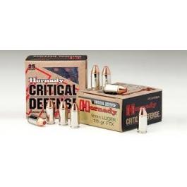 MUNICION HORNADY C/9X19 115 GR. FTX CRITICAL DEFENSE (25 UNDS)
