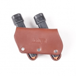 FUNDA CARGADOR SICKINGER PROFI BOX DOUBLE, 9MM PARA, MARRON K122