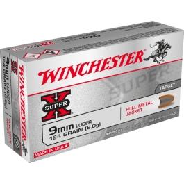 MUNICION WINCHESTER C/9x19 FMJ 124 GR