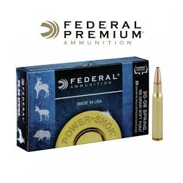 MUNICION FEDERAL AMMUNITION. C/30-06 SPRINGFIELD .180 GR SOFT POINT