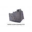 FUNDA OWB GLOCK 43/48 Silver/LINTERNA TLR-6 EXTERIOR KYDEX