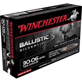 MUNICION WINCHESTER C/30-06 BALLISTIC 168 GR