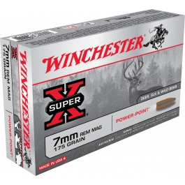 MUNICION WINCHESTER C/7MM REM MAG POWER POINT 175 GR