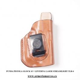 FUNDA FRONT LINE GLOCK 43 CON LINTERNA TLR-6 FL32299X