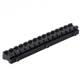 Regleta Weaver / Picatinny Gamo, ideal para colocar accesorios en armas de aire comprimido