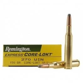 MUNICION REMINGTON C/270 WIN CORE-LOKT SP 150 GR