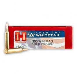 MUNICION HORNADY C/300 WIN.MAG. 150 GR. INTERLOCK AMERICAN WHITE.