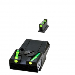 ALZA + PUNTO HIVIZ GLOCK REGULABLE FIBRA OPTICA