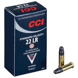 MUNICION CCI C/22 LR. STANDARD VELOCITY 50 U/.