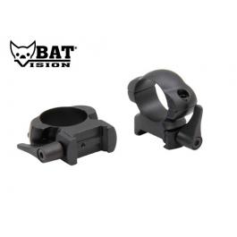 ANILLAS BAT VISION WEAVER DESMONTABLE 30 MM ACERO BAJA BAT004
