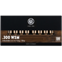 MUNICION RWS C/300 WSM EVOLUTION 184GR