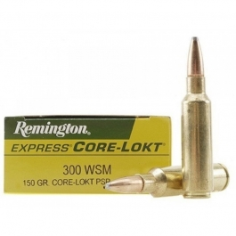 MUNICION REMINGTON C/300 WSM CORE-LOCK PSP 150 GR