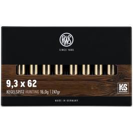 MUNICION RWS C/9,3x62 KS 247 GR